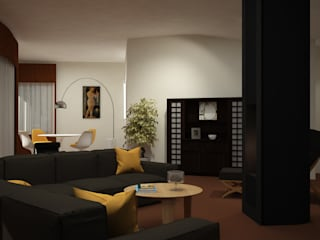 ibedi laboratorio di architettura Living room Wood Black
