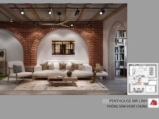 Phong cách Modern Rustic trong thiết kế nội thất Penthouse Nguyễn Huy Tưởng Thiết Kế Nội Thất - ARTBOX