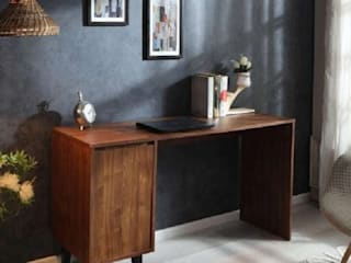 Taichi Writing Table Atmosphere Study/officeDesks Wood Black