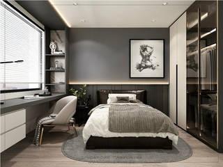 Singapore Carpentry Interior Design Pte Ltd Modern style bedroom Wood Grey