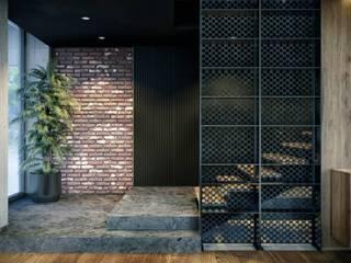VERO CONCEPT MİMARLIK Modern corridor, hallway & stairs