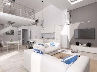 InstantRender 现代客厅設計點子、靈感 & 圖片