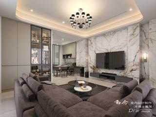 匆匆忙後的幽靜--和澄豐釀 木博士團隊/動念室內設計制作 现代客厅設計點子、靈感 & 圖片