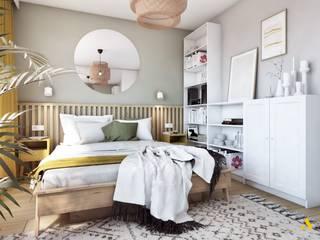 atoato Scandinavian style bedroom