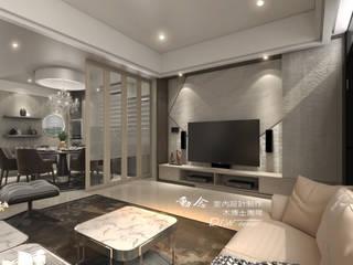 現代手法引領新古典柔和、喚醒藝術典雅氣質--詠丞文匯 木博士團隊/動念室內設計制作 现代客厅設計點子、靈感 & 圖片