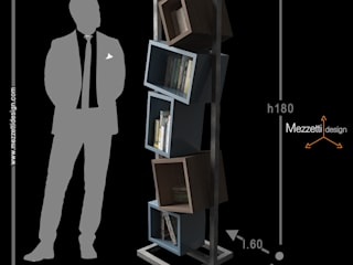 Mezzettidesign Study/officeCupboards & shelving Iron/Steel Blue