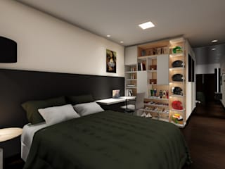 Studio Ideação Modern style bedroom MDF Black