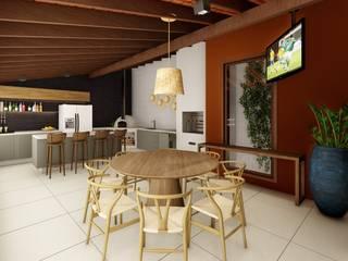 Studio Ideação Garajes y galpones de estilo ecléctico