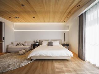 療癒度假宅 伏見設計事業有限公司 臥室 木頭 Brown