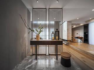 療癒度假宅 伏見設計事業有限公司 现代客厅設計點子、靈感 & 圖片 大理石 Brown