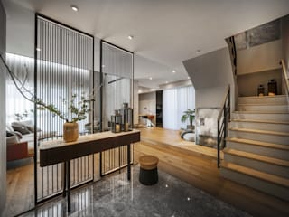 療癒度假宅 伏見設計事業有限公司 现代客厅設計點子、靈感 & 圖片