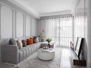 暖灰的表情 伏見設計事業有限公司 现代客厅設計點子、靈感 & 圖片 Grey