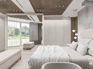 IN HARMONY WITH NATURE | III | Wnętrza apartamentu ARTDESIGN architektura wnętrz Skandynawska sypialnia