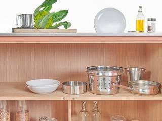 Lgtek cucine in acciaio inox ห้องครัวที่เก็บของ ไม้