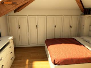 Camera da letto mansardata Falegnamerie Design