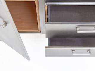 Lgtek cucine in acciaio inox KitchenStorage Wood