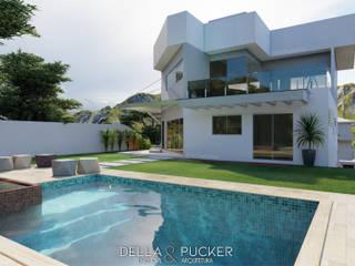 RESIDÊNCIA W Casas modernas por Della&Pucker - Eng. Civil e Arquitetura Moderno