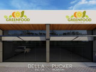 Sala Comercial com 200m² Lojas & Imóveis comerciais modernos por Della&Pucker - Eng. Civil e Arquitetura Moderno