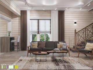 Мастерская интерьера Юлии Шевелевой Eclectic style living room