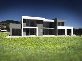 Arqcubo Arquitectos Rumah pedesaan Beton White