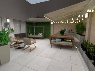 Proy. San Isidro - Terraza KIARA NOVOA INTERIORISTA Balcones y terrazas modernos