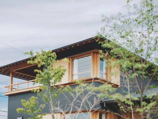 京ケ峰の家 小林良孝建築事務所 木造住宅 木 黒色