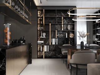 ramรับออกแบบตกแต่งภายใน ComedorAccesorios y decoración Arenisca Negro
