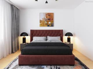 Schlafzimmer 3D Visualisierung GRIFFEL 3D DESIGN Moderne Schlafzimmer Rot