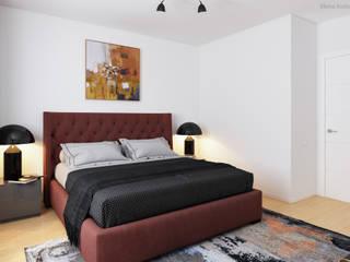 Schlafzimmer 3D Visualisierung GRIFFEL 3D DESIGN Moderne Schlafzimmer Schwarz