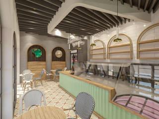 LİÇİNA CAFE İç Mimar Murat KAÇAR - Ofiss Iç Mimarlık İç Dekorasyon Demir/Çelik Altın Sarısı