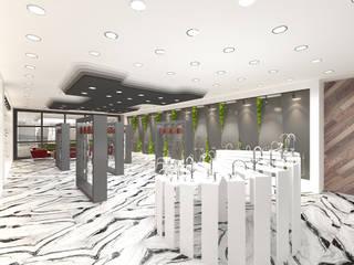 SHOWROOM İç Mimar Murat KAÇAR - Ofiss Iç Mimarlık Ofis Alanları & Mağazalar Ahşap Beyaz