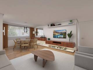 DCC by Next arquitetura Livings de estilo moderno Madera