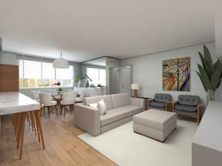 DCC by Next arquitetura Livings de estilo moderno