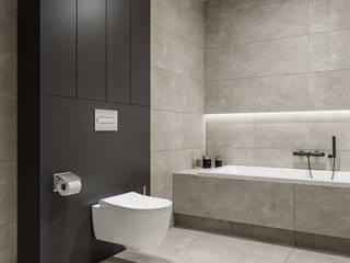 Domni.pl - Portal & Sklep Minimalist style bathroom Ceramic Grey