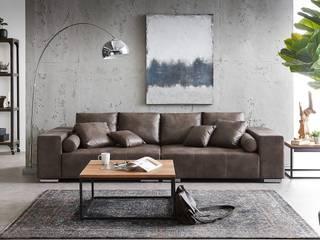 DELIFE ห้องนั่งเล่นโซฟาและเก้าอี้นวม Brown
