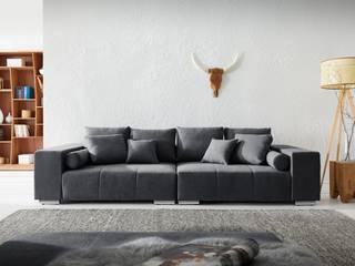 DELIFE ห้องนั่งเล่นโซฟาและเก้าอี้นวม Black
