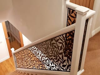 New Staircase Replacement Infill Panels Staircase Renovation Escaleras Metal