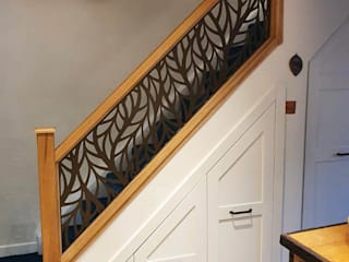 New Staircase Replacement Infill Panels - Frond design Staircase Renovation Escalier Métal