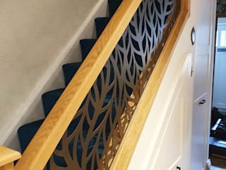 New Staircase Replacement Infill Panels - Frond design Staircase Renovation Stairs Metal