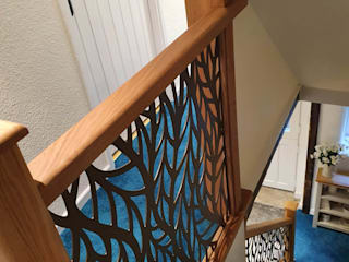 New Staircase Replacement Infill Panels - Frond design Staircase Renovation Escaleras Metal