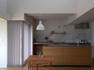 内田雄介設計室 Kitchen Tiles Wood effect