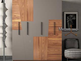 Mezzettidesign Спальная комната Шкафы для одежды и комоды Дерево Серый