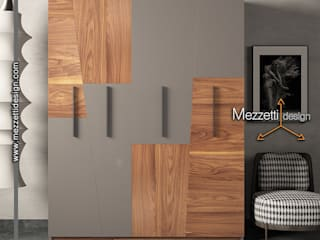 Mezzettidesign DormitoriosClósets y cómodas Madera Gris