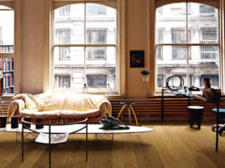 Holz + Floor GmbH | Thomas Maile | Living with nature since 1997 Ruang Studi/Kantor Klasik Kayu Beige