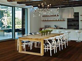 Holz + Floor GmbH | Thomas Maile | Living with nature since 1997 Ruang Makan Klasik Kayu Brown