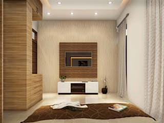Ravi Prakash Architect Small bedroom Plywood Beige