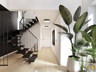 atoato Eclectic corridor, hallway & stairs