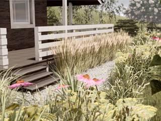 STTYK - Pracownia Architektury Wnętrz i Krajobrazu Scandinavian style garden
