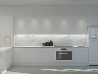 Lagom studio システムキッチン 大理石 白色