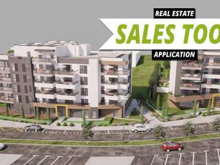 3D Exterior Real Estate Sales Tool Application by Virtual reality developer, Midland - Texas. Yantram Architectural Design Studio Espaços comerciais modernos